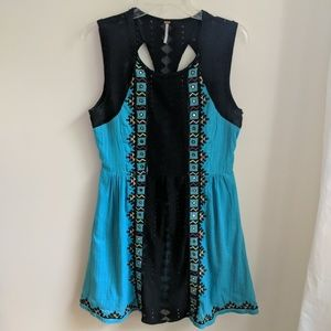 [Free People] Water Lily Embroidered Mirror Dress